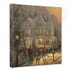 Thomas Kinkade Holiday Gathering 14 x 14 Wrapped Canvas