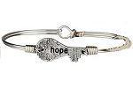 Hope Key Bangle Silver 7.0