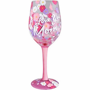 I Love You Mom 2 Wine Glass 4057886