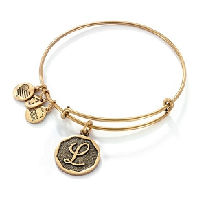 Initial L Bangle Rafaelian Gold
