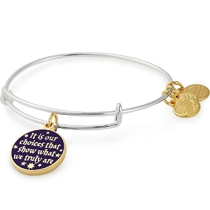 Harry Potter It's Our Choices Two Tone Charm Bangle