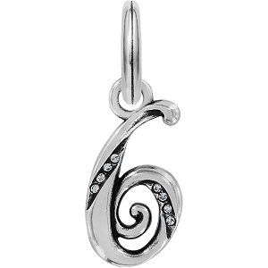 Number 6 Charm Silver J91526