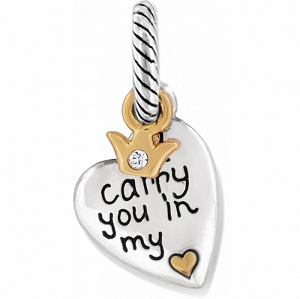 Carry You Charm Silver Gold J99762