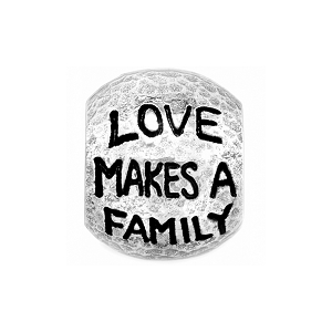 Love Family Bead Silver J99850