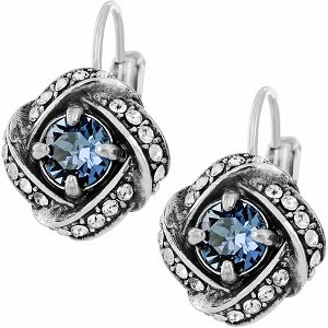 Eternity Knot Leverback Earrings Blue JD4113