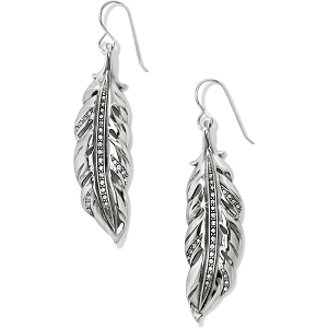 Contempo Ice Feather French Wire Earrings JA4061