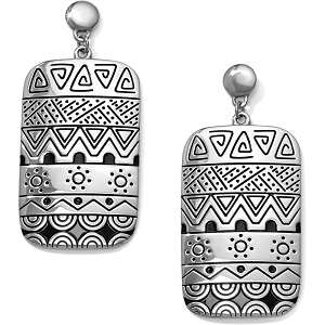 Africa Stories Etched Post Drop Earrings JA4540