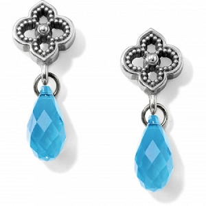 Toledo Alto Briolette Post Drop Earrings Aquamarine JA525B