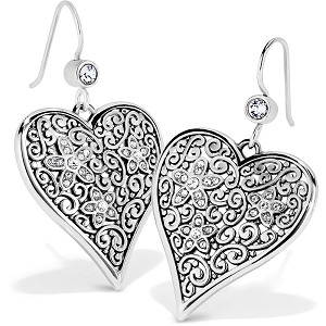 Baroness Fiori Heart French Wire Earrings JA6611