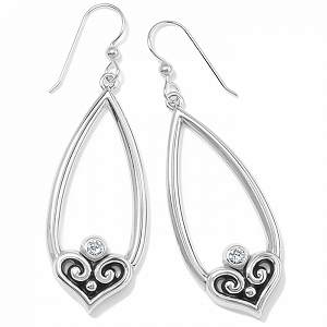 Alcazar Heart Teardrop French Wire Earrings JA7351