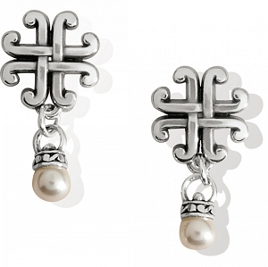Taos Pearl Cross Petite Post Drop Earrings JA7723