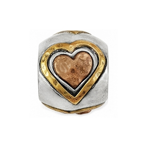 Art & Soul All Hearts Bead Silver Gold Copper JC1601