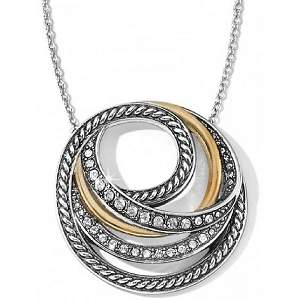 Neptune's Rings Two Toned Short Necklace Gift Box JD1392