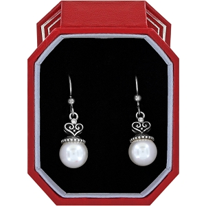 Alcazar Pearl Drop French Wire Earrings Gift Box JD4390