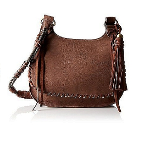 Steven by Steve Madden Evelyn Saddle Cross Body Handbag Brown