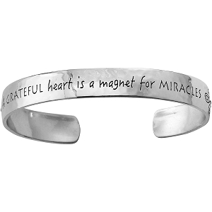 Cherished Grateful Heart Cuff JF4301