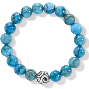 Contempo Chroma Turquoise Stretch Bracelet JF834A