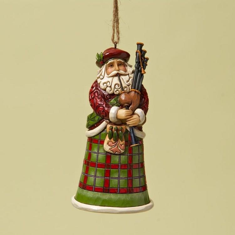 Scottish Santa Ornament 4022943