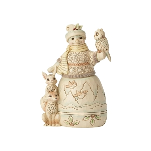 White Woodland Snowman with Friends 6001416
