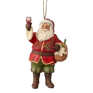 Vineyard Wine Santa Ornament 6001501