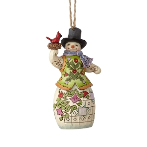Snowman with Cardinal Ornament 6001512