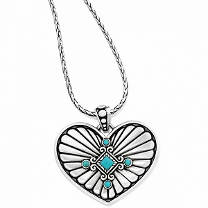 Indie Concho Heart Necklace JL0692