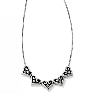 Alcazar Slider Silver Hearts Link Chain Necklace JL4102