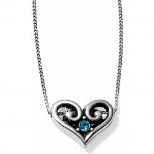 Alcazar Heart Necklace Emerald JL576K