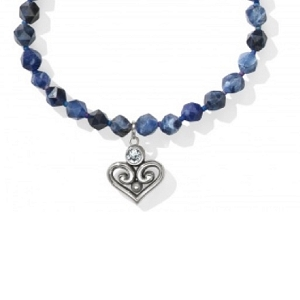 Alcazar Heart Short Necklace Lapis JL806L