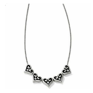 Alcazar Hearts Slider Necklace JL8450