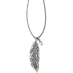 Contempo Ice Feather Convertible Reversible Necklace JL8561