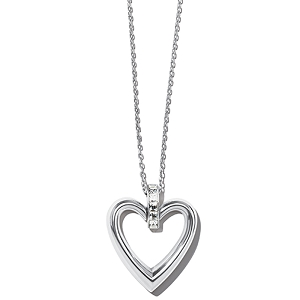 Spectrum Open Heart Necklace Silver JM3671