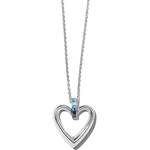 Spectrum Open Heart Necklace Blue JM3672