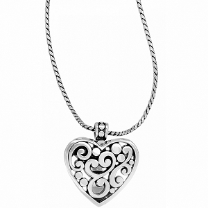 Contempo Heart Badge Clip Necklace JN3040