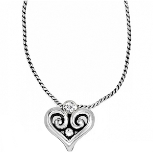 Alcazar Heart Badge Clip Necklace JN9732