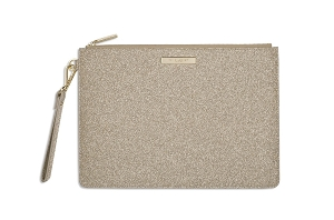 Stardust Clutch Bag Sparkly Champagne KLB227
