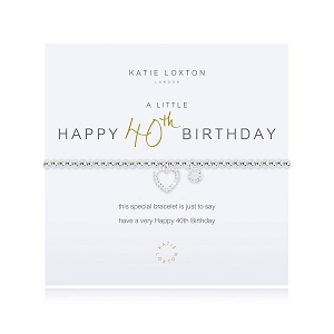 A Little Happy 40th Birthday Bracelet KLJ2073