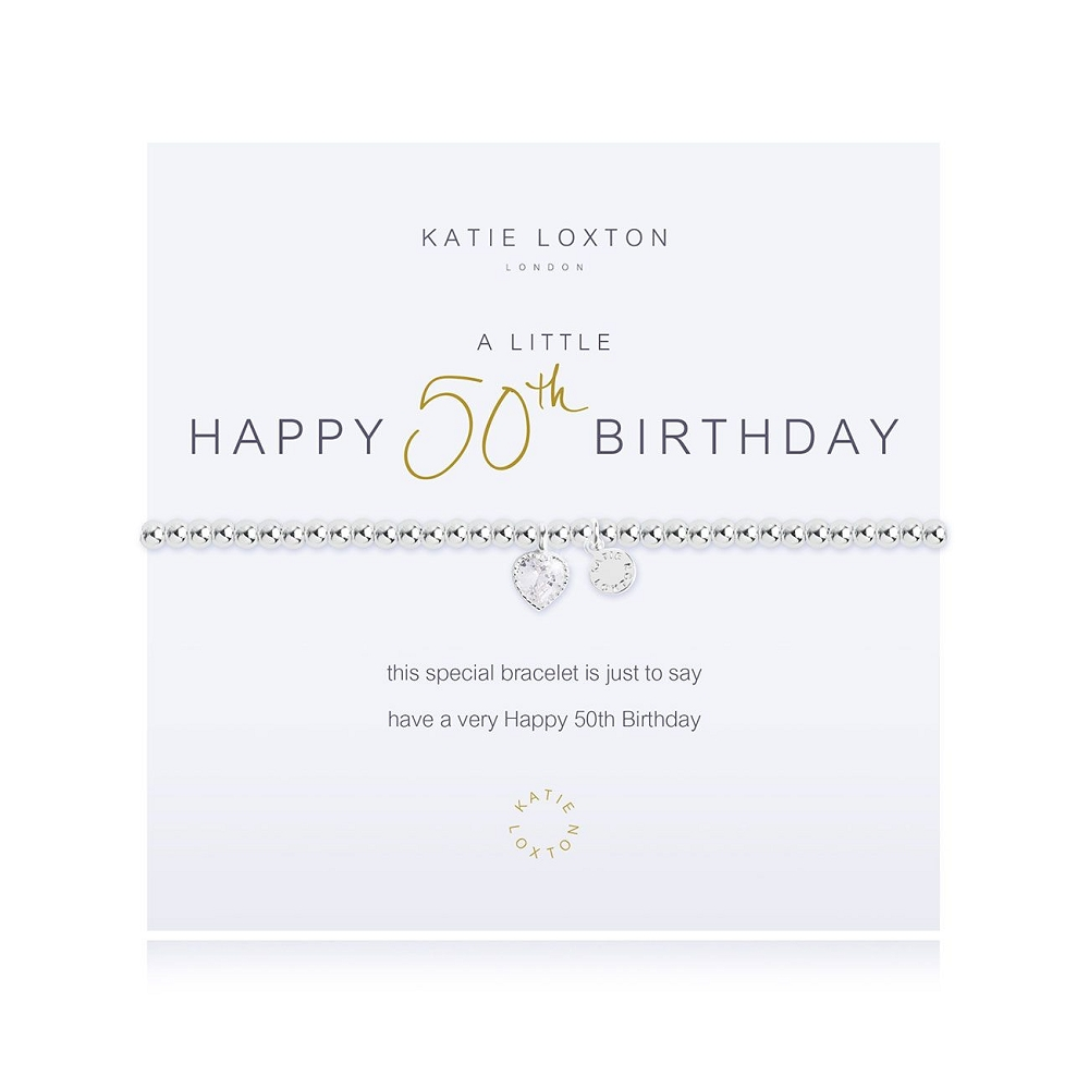 A Little Happy 50th Birthday Bracelet KLJ2074
