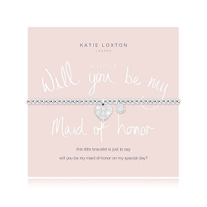 A Little Will You Be My Maid of Honor? Bracelet KLJ2104