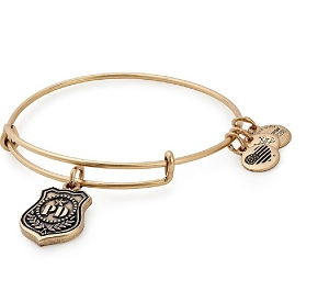 Law Enforcement Charm Bangle Gold