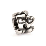 Letter Bead F Silver