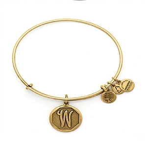 Initial W Bangle Rafaelian Gold