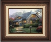 Thomas Kinkade Lilac Cottage 25 1/2 x 34 Canvas Framed