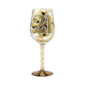 21st Birthday Wine Glass 6000735