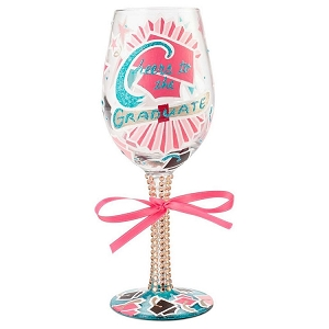 Cheers to the Grad Wine Glass 6001351