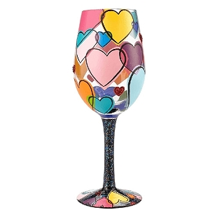 Love is All Around Wine Glass 6001352