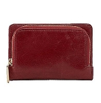 Hobo Womens Leather Loral Compact Bifold Wallet Mahogany