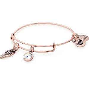 Love Duo Charm Bangle Rose Gold