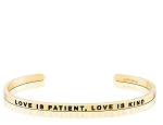 Love is Patient Love is Kind Gold