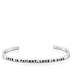 Love is Patient Love is Kind Silver